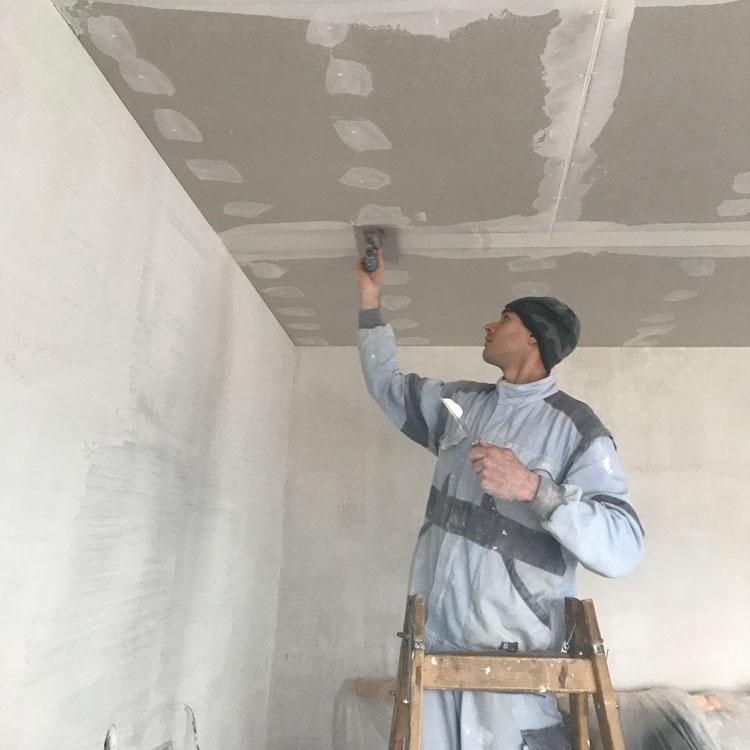Montáž sádrokartonu na strop